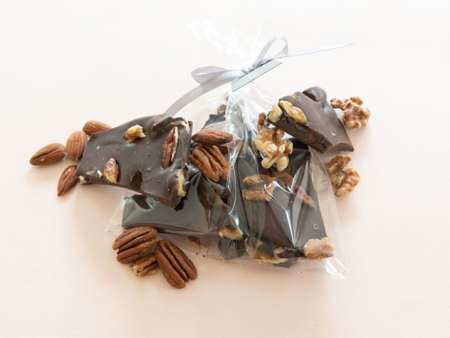 Dark nutty chocolate shards
