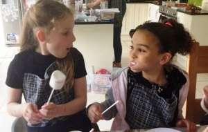 children's chocolate making birthday party