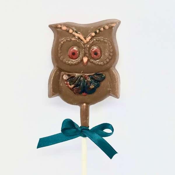 milk chocolate halloween owl lolly