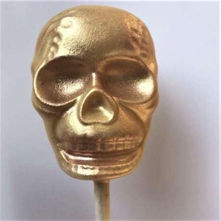 white chocolate halloween skull lolly